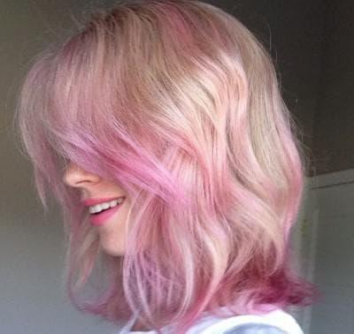 розово-фиолетовый цвет волос