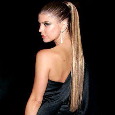 высокий красивый хвост на длинные волосы