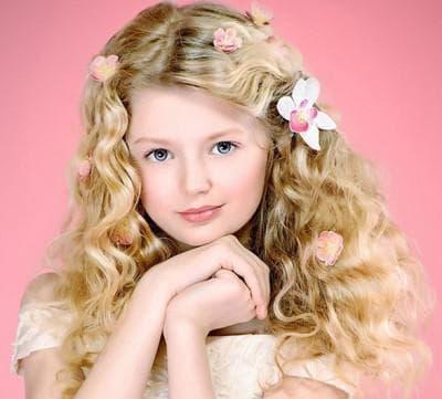 детские локоны на длинные волосы