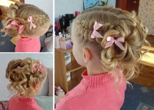 красивые и легкие прически коса-цветок для девочек