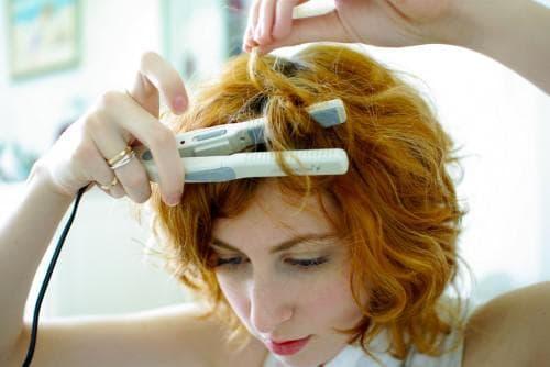 укладка коротких волос утюжком
