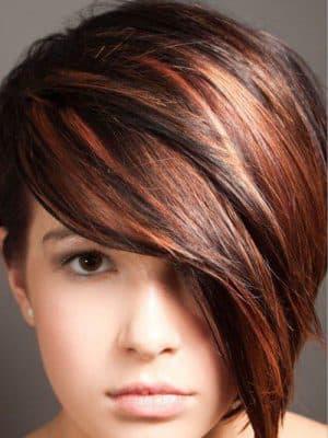 мелирование на рыжие волосы на короткие волосы
