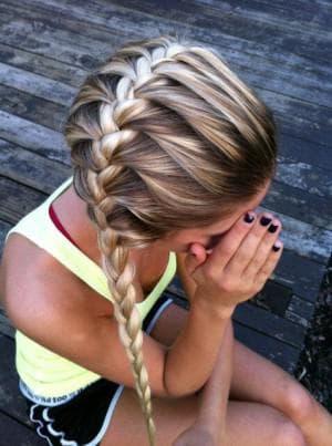 красивые и легкие прически французская коса для девочек