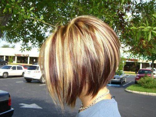 мелирование на тёмные волосы на короткие волосы