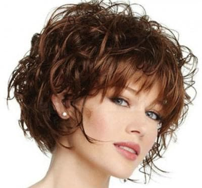 стрижка на средние вьющиеся волосы