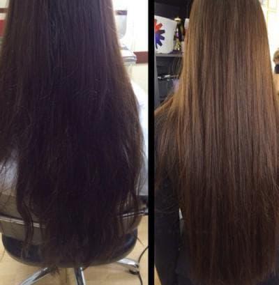 мелирование черных волос фото до и после