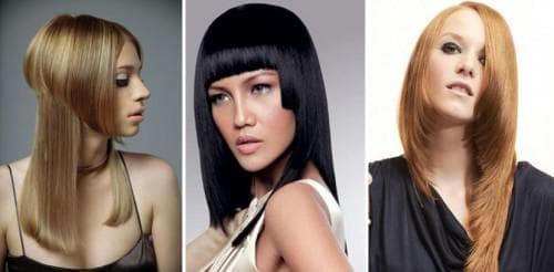 асимметрия в стиле ретро для длинных волос