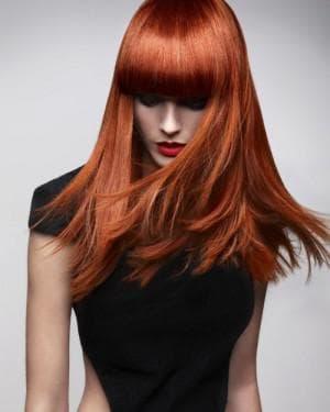 классический медно коричневый цвет волос