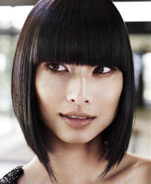 стрижки для азиатского лица с чёлкой