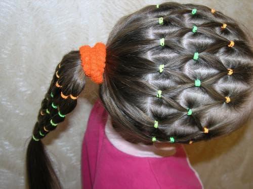 причёска сеточка для девочки