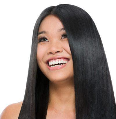 стрижки для азиатского лица без чёлки