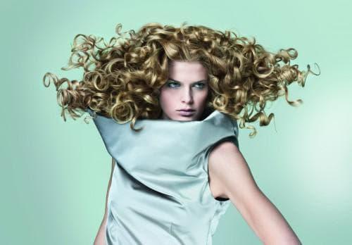 нейтральная завивка на средние волосы