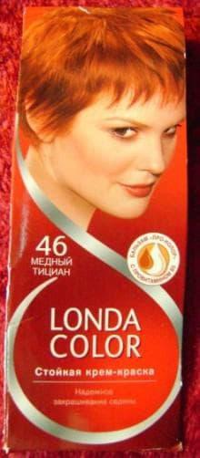 краска для волос Londa медно рыжий цвет волос