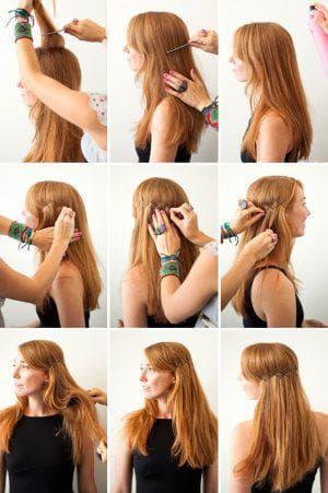 как красиво заколоть волосы на длинные волосы