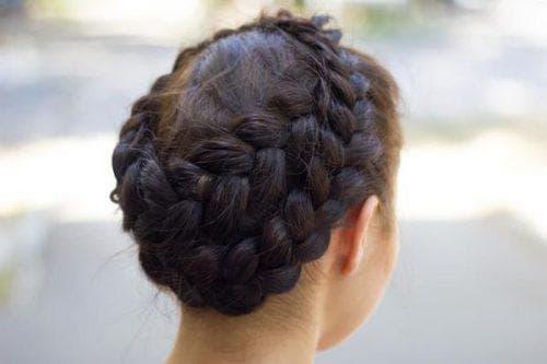 коса корзинка на длинные волосы