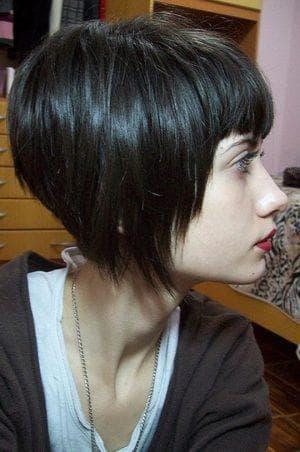 пикси на густые прямые волосы
