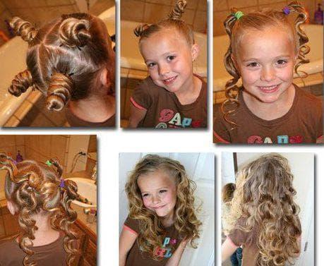 кудри за ночь на длинные волосы для девочек