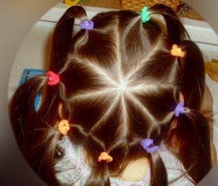 фигуры из хвостиков на длинные волосы для девочек