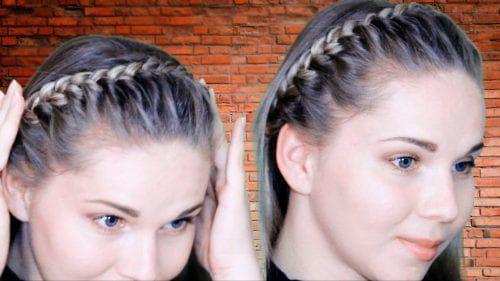 коса ободок из шевелюры на короткие волосы