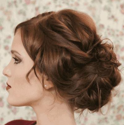 пучок из жгутов на накрученные волосы