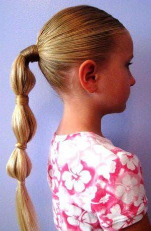 причёска фонарики на длинные волосы для девочек
