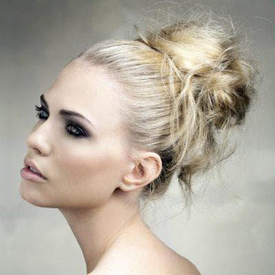 шишка игривые кудри из волос с помощью бублика