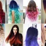 фото покраска волос в два цвета балаяж