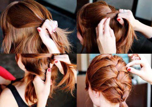 плетение кос с дракончиком на короткие волосы