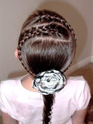 ободок из косичек на длинные волосы для девочек