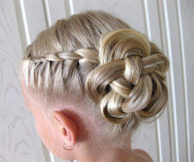 причёска с плетением для девочки
