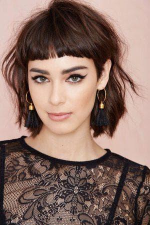 французская стрижка с чёлкой на короткие волосы