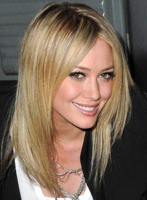 градуированная лесенка на средние волосы без чёлки