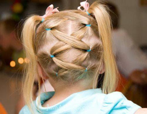 причёска шнуровка для девочки