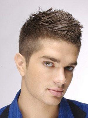 укладка коротких мужских волос