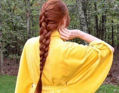 французская коса из 4 прядей