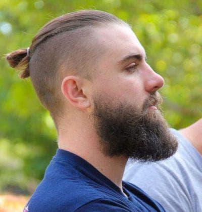 причёска Top knot для парней