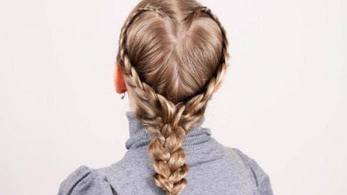 причёска Сердечко из кос для девочки