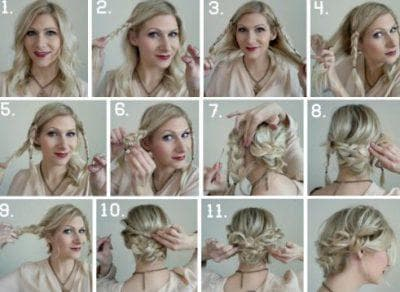как красиво собрать волосы на короткие волнистые волосы