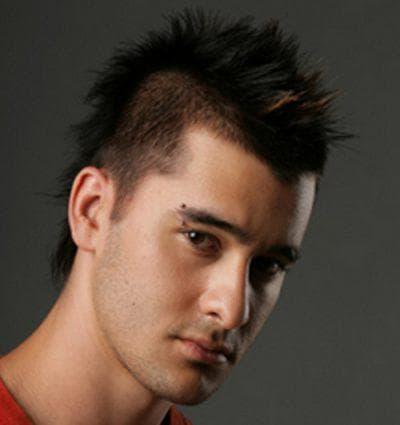 укладка коротких мужских волос под панк