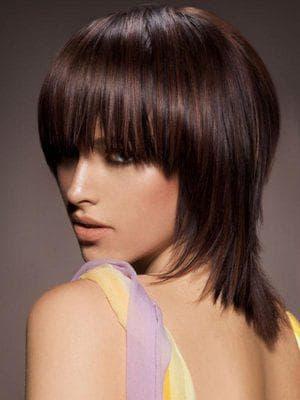 сессон на средние кудрявые волосы с чёлкой