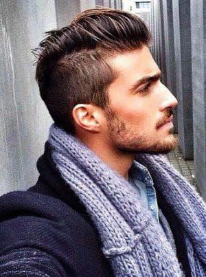 мужская стрижка андеркат на средние волосы