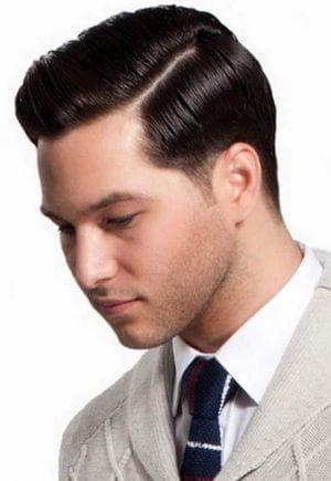 причёска Классический боковой пробор для парней