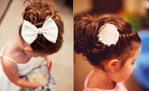 модная греческая причёска для девочки