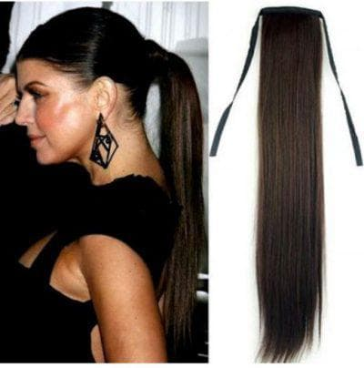 конский хвост с накладными волосами