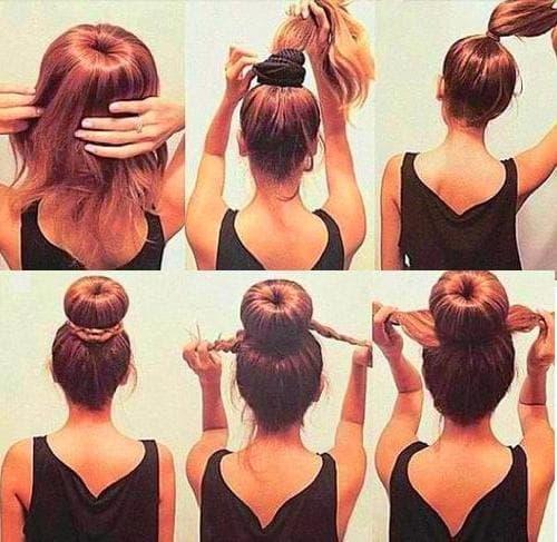 шишка на длинные волосы