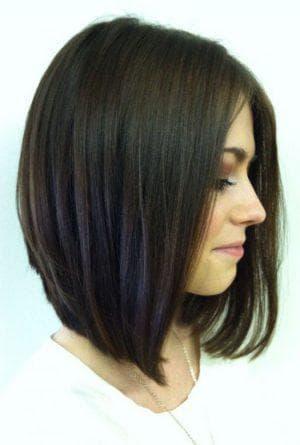боб-каре на средние волосы без чёлки