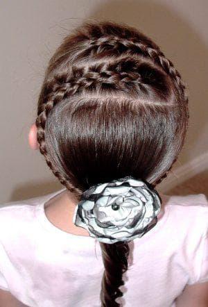 ободок из кос на длинные волосы для девочек