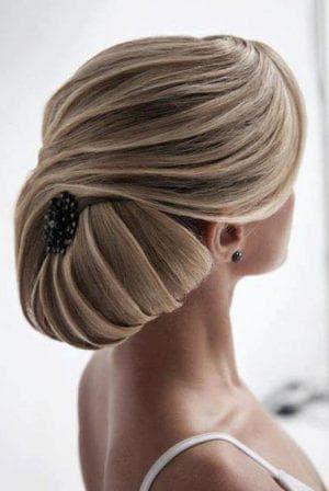 ракушка на прямые длинные волосы