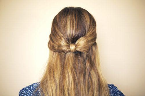 чёлка с распущенными волосами в школу