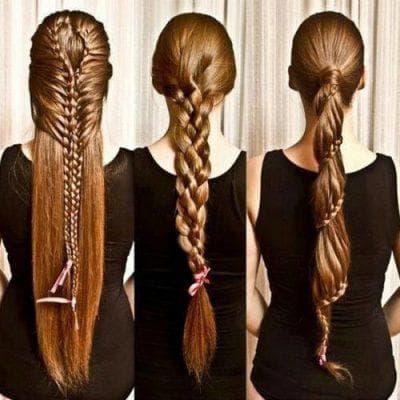 заколка Свободная коса на длинные волосы